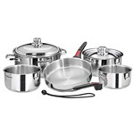 Magma Nesting Professional Series 10 Piece Gourmet Nesting Induction Cookware