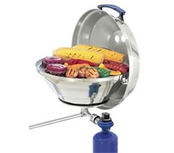 Grill magma marine kettle gas grill with hinged lid