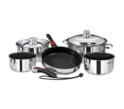 Cookware magma nesting 10 piece non stick cookware set